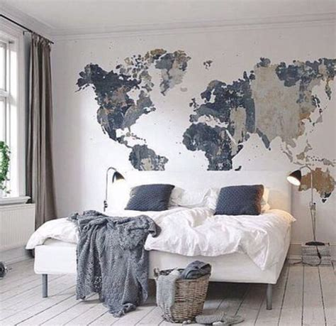 Grey Accent Wall 25 best world map wall ideas on pinterest bedroom