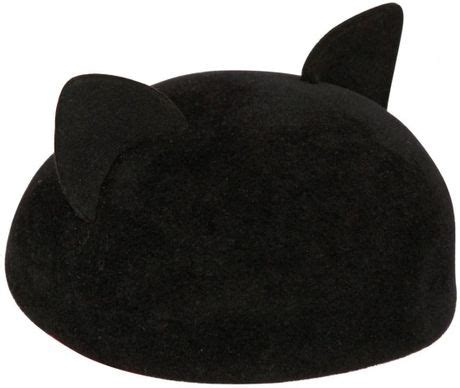 Cat Ear Beret eugenia caterina velour felt beret with cat ears in