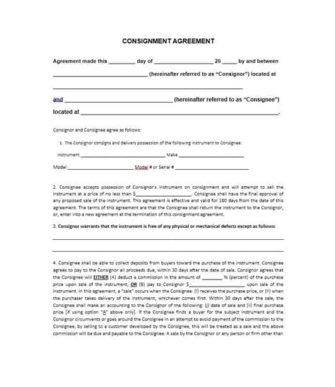 clothing consignment agreement template clothing consignment agreement template gallery template