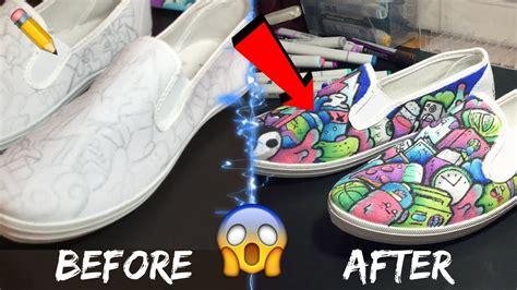 Custom Doodle custom doodle shoe transformation copic marker doodle