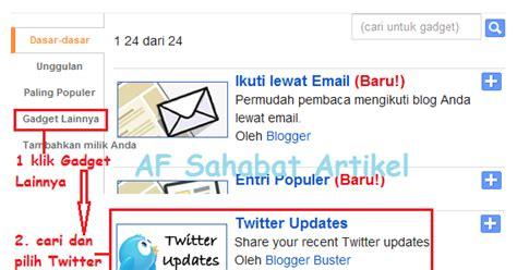 cara membuat status twitter cara membuat widget update status twitter di blog blog