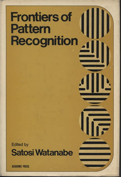 pattern recognition en espanol frontiers of pattern recognition satosi watanabe