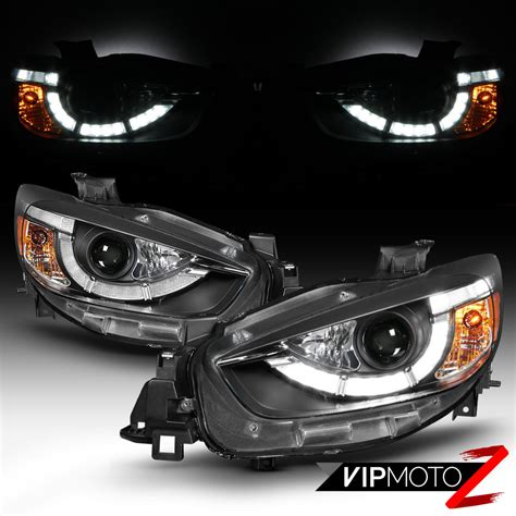 Projector Oem Led Mazda2 quot newest design led drl quot 2013 2015 mazda cx5 cx 5 black proejctor lights set ebay