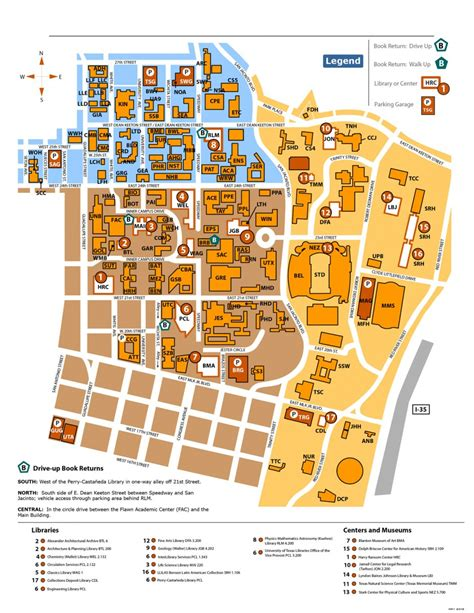 university of texas map library map and floor plans university of texas libraries