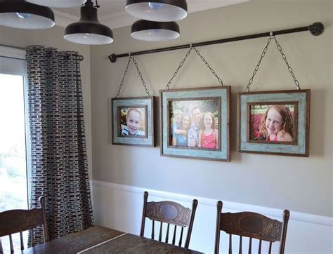 creative ideas  hanging pictures