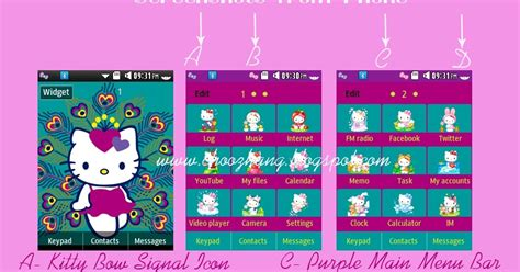 hello kitty themes corby 2 choozhang corby cat samsung corby 2 or s3850 hello
