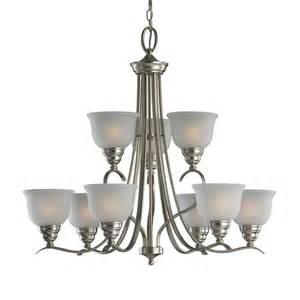 Cottage Chandelier Shop Sea Gull Lighting Wheaton 30 81 In 9 Light Brushed