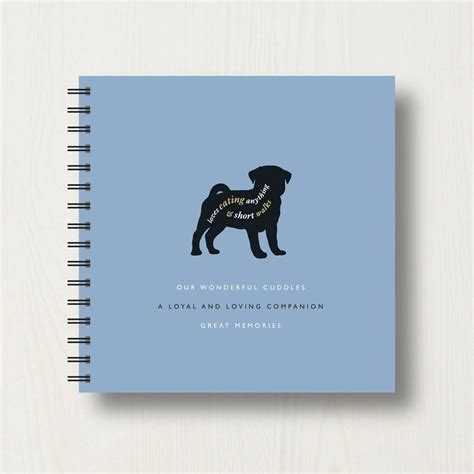 pug photo album personalised pug lover s book or album by designed notonthehighstreet