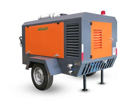 diesel portable air compressor diesel driven mobile air compressors denair