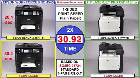 color laser vs inkjet inkjet vs laser epson s wp 4540 tackles hp s lj pro