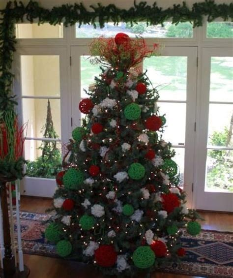 velvet red and green natural christmas tree decorating kit