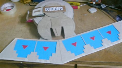 How To Make A Duel Disk Out Of Paper - yugioh duel disk tutorial