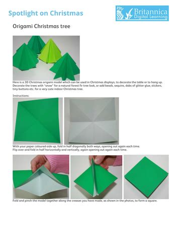 Origami For The Resources Of by Origami Tree 3d By Britannicadigitallearning