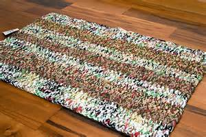 area rug brown white striped recycled plastic bags by
