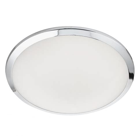 Glass Ceiling Lights Uk Modern Polished Chrome And Frosted Glass Led Bathroom Ceiling Light