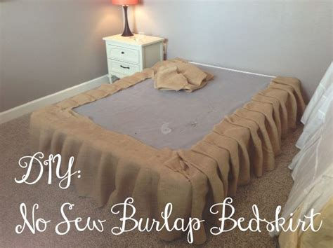 Burlap Crib Bedding by You Got Personal No Sew Burlap Bedskirt Tutorial House