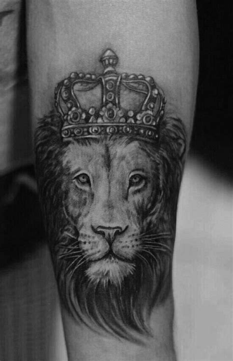 black ink crown on lion head tattoo on left arm 21 best lion with crown tattoo drawings images on