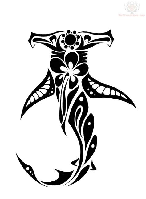 tribal hammerhead tattoo hawaiian tribal designs shark polynesian design easy