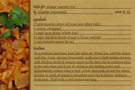 printable spanish recipes how to make recipe cards in photoshop home cooking memories