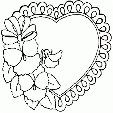 coloring pictures of love hearts mother s day pictures picture tags heart flower
