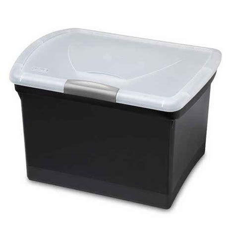 plastic file box sterilite file box black plastic hanging file box 1878