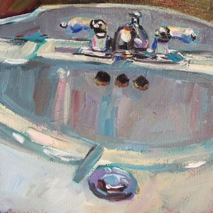 bathroom paintings art the bathroom sink 5x5 oil on canvas original painting by