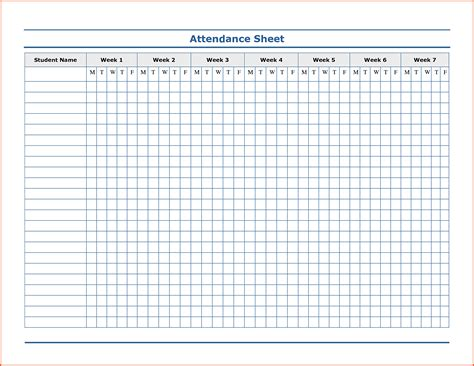 sheet template word attendance sheet excel template masir