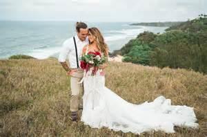 The Wedding Wardrobe by Audrina Patridge Corey Bohan S Boho Chic Kauai Wedding