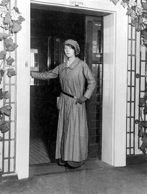 woman elevator operator photograph  underwood archives