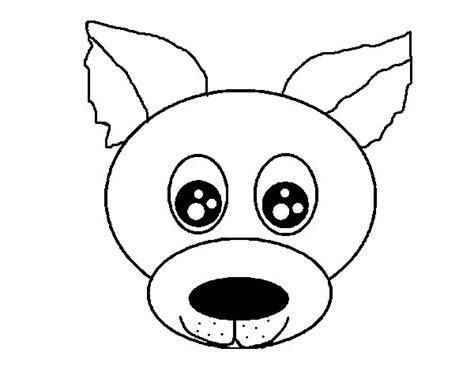 coloring page dog face puppy face coloring page coloringcrew com