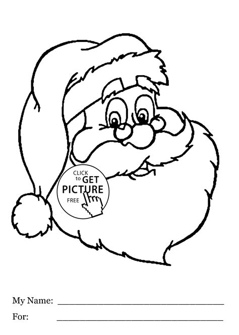 santa coloring page for preschoolers santa claus had coloring pages for kids printable free