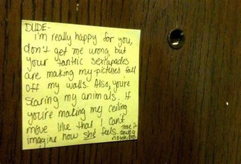 Complaint Letter Upstairs Notes Asking Neighbors To Stop Loud Happy Place