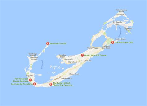 bermuda island map bermuda travel planning map the best of bermuda