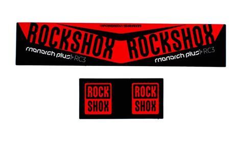 Rock Shox Monarch Plus Aufkleber by Rockshox Pike Stickers Red Satu Sticker