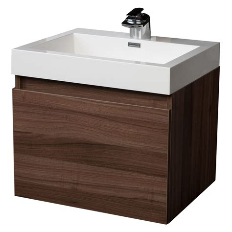 modern single bathroom vanity with drawer walnut tn a600