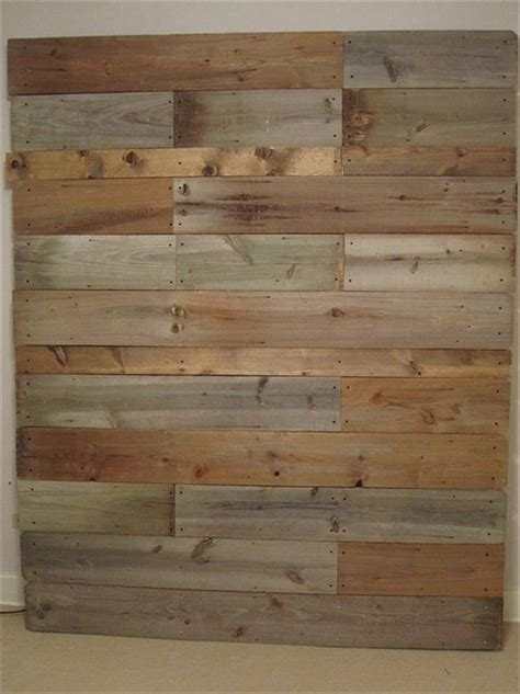 Wood Plank Headboard Diy Pallet Wall Headboard Tutorial 99 Pallets