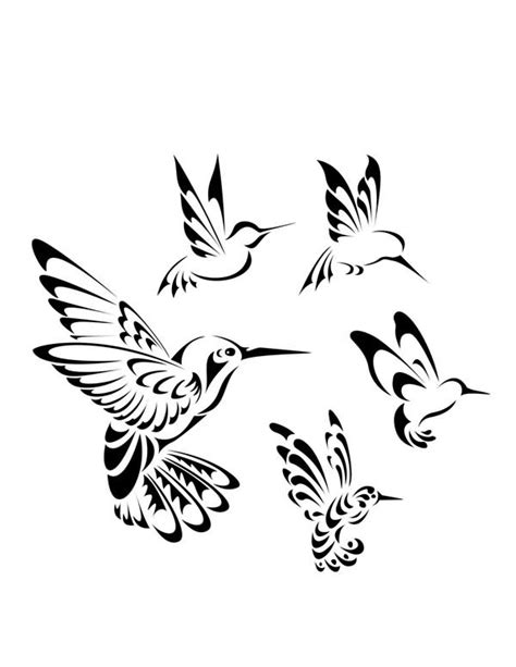 hummingbird tribal tattoo hummingbird images designs