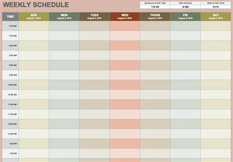 Calendars That Work Weekly Free Blank Calendar Templates Smartsheet