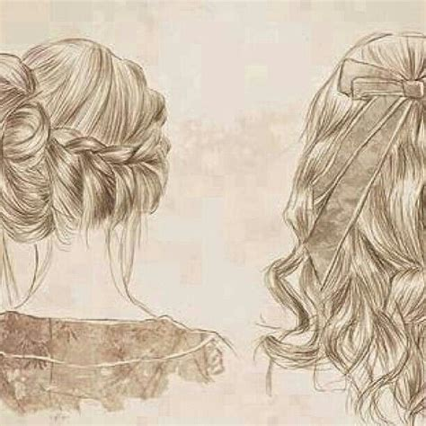 medium length hairstyle sketches hairstyle drawing independent art pinterest
