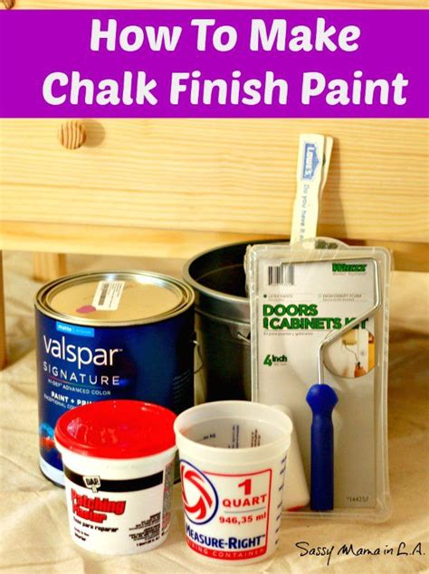 lowes diy chalk paint recipe easy how to make chalk finish paint tutorial lowescreator