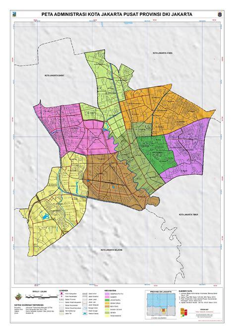 administrasi kota jakarta pusat peta tematik indonesia