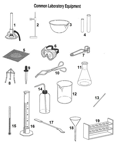 Lab Equipment Worksheet by Pictures Laboratory Equipment Worksheet Toribeedesign