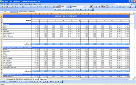 printable monthly budget template monthly expense spreadsheet