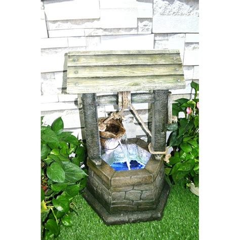 wishing well water fountain garden ornaments accessories