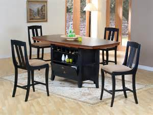 kitchen island dining set traditional wood rectangular