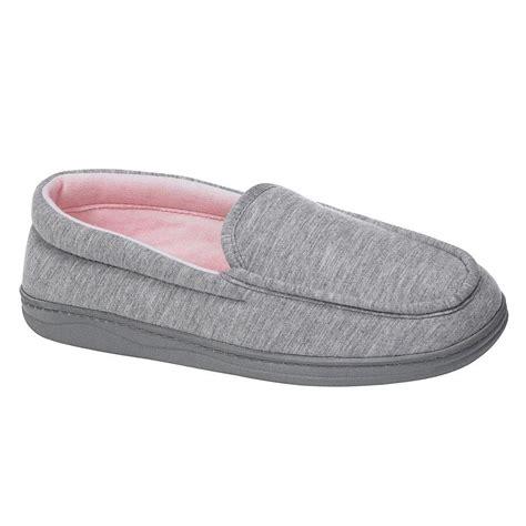 mens slippers at sears pink k s bernadette microsuede moc slipper grey