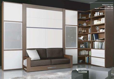 騁ag鑽e murale bureau armoire lit escamotable avec canape squadra couchage 160