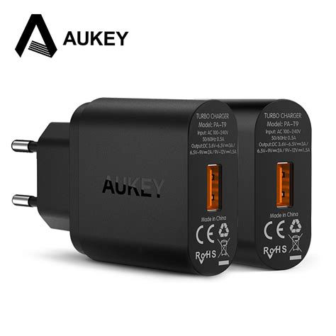 In Aukey Qualcomm Charge 3 0 Aukey Charge 3 0 Usb Wall Charger Eu Us