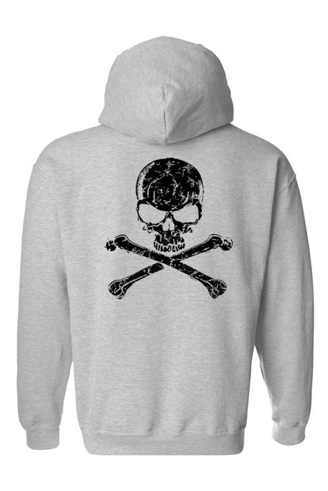 Hoodie Mechanic Skeleton s biker zip up hoodie black skull and crossed bones skeleton grim reaper ebay