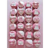 Wedding Cupcakes  Cute White And Pink Girly